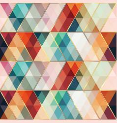 retro triangle mosaic seamless pattern vector image