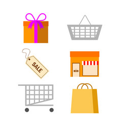 shopping related pack vector image