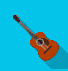 Spanish acoustic guitar icon in flate style vector