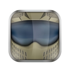 Square icon for paintball app or games vector image
