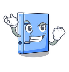Successful office binder with file character funny vector