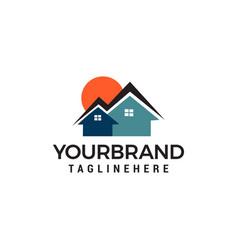 sun homes logo real estate logo designs template vector image