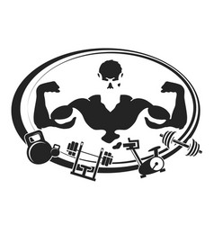 symbol for gym and fitness vector image