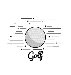 symbol golf play icon vector image