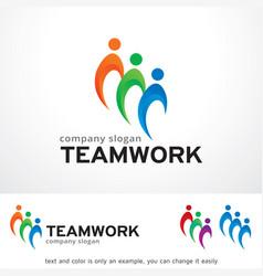 Teamwork logo template design vector