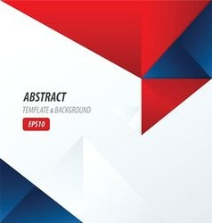 Template triangle Red and Blue Color vector