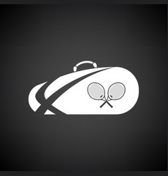 Tennis bag icon vector