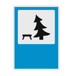 tree by the bench icon flat style vector image