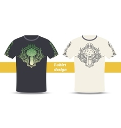Tshirt Design Abstract Mushroom vector image