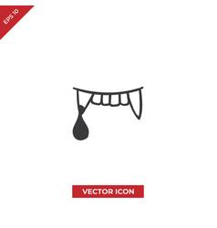 Vampire teeth icon vector