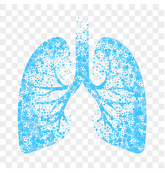 wet cough icon blue lungs cold wet cough remedy vector image