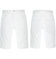 white summer shorts vector image