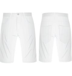 White summer shorts vector