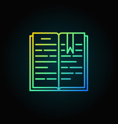 open book colorful icon vector image vector image