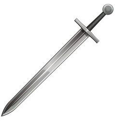 steel sword vector image