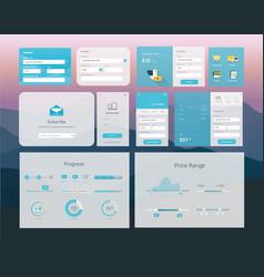 ui interface design vector image vector image