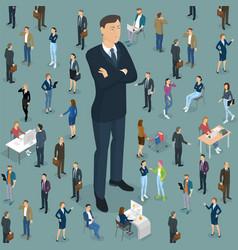 businessman big boss leader office vector image vector image