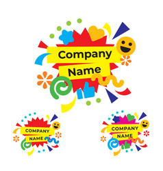 funny and happy party logo modern holiday vector image vector image