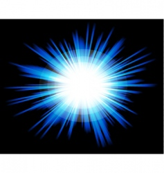 light sparkle with blue colours vector image vector image