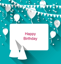 Celebration Card with Party Hats vector image vector image