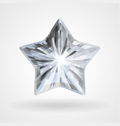 diamond five pointed star vector image