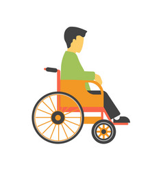 incapacitated faceless person on wheelchair vector image