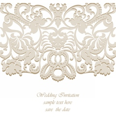 Classic Wedding Invitation card vector image vector image
