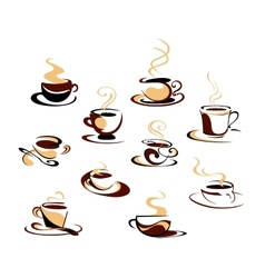 Coffee cups set vector image