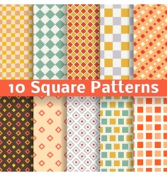 Different square seamless patterns tiling vector image
