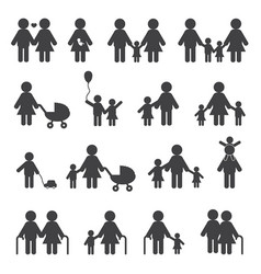 happy family grandfather grandmother and people vector image vector image