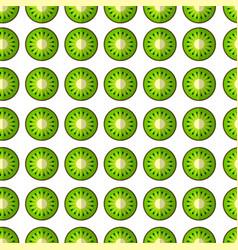 kiwi in a cut pattern vector image