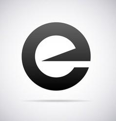 Logo for letter e vector