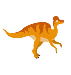 orange duckbill dinosaur of jurassic period vector image vector image