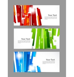 Set of banners with straight lines vector image