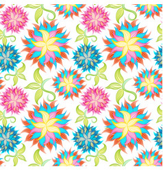 Spring or summer flowers pattern floral vector