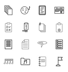 16 note icons vector image