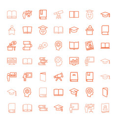 49 learning icons vector image