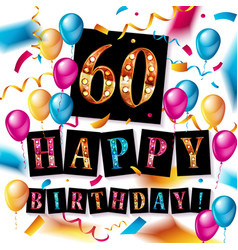 60 happy birthday background vector