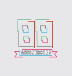 88th years anniversary logo birthday celebration vector