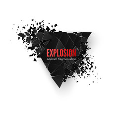 abstract black triangle explosion pattern vector image