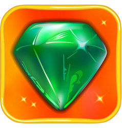 App game icon emerald vector