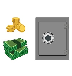 Bank safe vector image