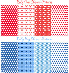 bashower heart pattern collection vector image