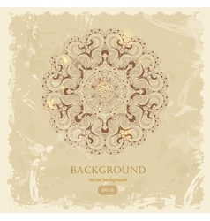 Beautiful vintage arabesque lace vector image vector image