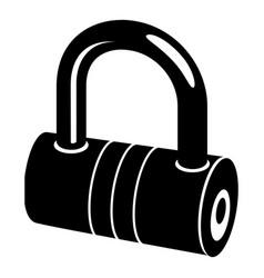 big padlock icon simple style vector image vector image
