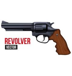 Big Revolver Black gun metal vector image