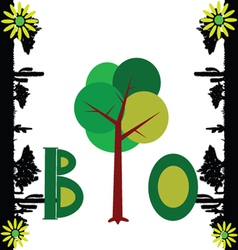 bio nature art vector image