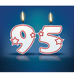 Birthday candle number 95 vector