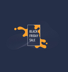 Black friday poster organic forms with dynamic vector