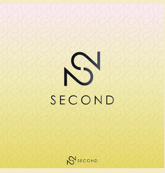 Black letter s and double number 2 logo concept vector
